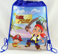 beam jack - CM421 new high quality Pirate Captain Jack drawstring beam port Non woven children school bags for boys kids Backpack