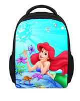 ariel backpack - Hot small d cartoon The Little Mermaid school bags for girls cute princess Ariel mochilas kids bookbags children bagpack
