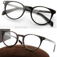 Wholesale unisex retro glasses original Full eyeglasses frame New Brand TOM FOR men women TF6123 fashion spectacle optical