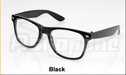 Vidrios del caminante en Línea-Wayfarer empollón vidrios del ojo del friki mayor-Nueva 3xFashion retro unisex de la vendimia lente clara 14 colores