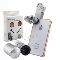 Wholesale X Zoom Universal Clip Microscope Mobile Phone Lens LED Magnifier Micro Camera Kit For iPhone Samsung Huawei Xiaomi Smartphone