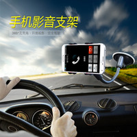 Cheap Wholesale-I6 Suck Holder Sticky Car Holder For Iphone 6 5s 4 Glass Stand Support Rotatable Bracket For Samsung GPS Mobile Phone Car Holder
