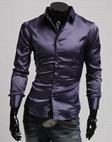 Wholesale New Spring Summer Dress Shirts Male Artificial Silk Casual Luxury Dress Stylish Shirt Man s Fashion casual shirt Clothes
