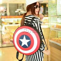 al por mayor vendedores-Al por mayor-Marvel Avengers el Capitán América morral de la manera del hombro del traje de Cosplay de la bolsa de accesorios Apoyos niños regalo de la muchacha