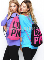 Wholesale vs Women Drawstring Bag girls Victoria love pink Backpacks cotton