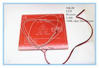 Piezas de la impresora por mayor-Nueva 3D MK2b Heatbed + LED + Resistencia + Cable + 100K ohmios Termistores PCB Climatizada Cama Blanca Rojo Color Negro!