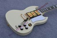 Cheap Wholesale-China OEM Guitar Factory Reliable Service Custom SG Guitar G400 Classical white 3 Pickups Golden Hardware In Stock