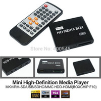 hdd media player - Multimidia P Mini HD Media Player Full HDD TV Media Player Support MKV RM SD USB SDHC MMC HDD HDMI BOXCHIP F10