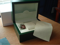 Wholesale High quality green wood watch box with papers cards and certificates for rolex watch
