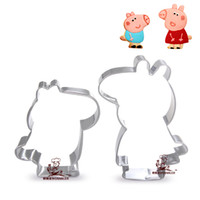 Wholesale High quality stainless steel pig shape cookie cutter set metal cookie stamp sets cooking tools