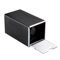 Wholesale Fashion High Quality Brushed Metal Watch Winder Box Rectangle Single Automatic Single Watch Winders Black Gift