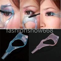 Wholesale New Mascara Applicator Comb Eyelash Eye Lashes Curler Guide Card Makeup Plastic Tool