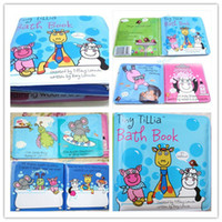 Wholesale Waterproof First Step Baby Time Educational Bath Book Bathtime Washable Coated