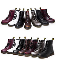 dr martens boots - New England Style Dr Genuine Leather Martin Boots Martin Shoes Men amp Women Brand Marten Dr Designer Motorcycle Boots Size35