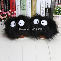 adult bunny slippers - Pair quot My Neighbor Totoro Ghibli Dust Bunny Adult Plush Figure Doll Slipper Totoro slippers BLACK totoro dust bunny