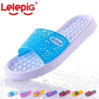 plastic slippers - Bathroom slippers home slippers female at home summer lovers slip resistant plastic massage slippers