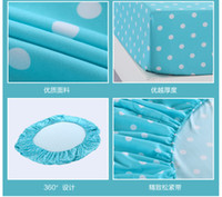 aloe blue - new Not the ball does not fade Aloe cotton three size bed fitted sheet sweet bed sheet bedspread best quality blue dot