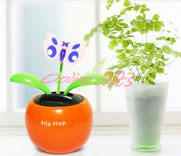 Wholesale Amusing solar apple flower swing automotive for car accessories ornaments toy birthday conference business advertising gift