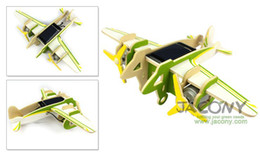 Wholesale DIY Solar aircraft Falcon Toy or teach tools for kids Solar powered