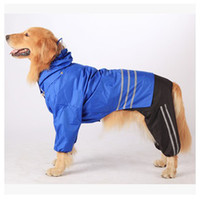 big hot dogs - New hot large dog clothes raincoat big dog rain coat waterproof with Reflective three piece detachable Retail