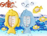 baby temperature gauge - Brand Brand Rikang Bathroom Baby Bath Toy Fish Shape Thermometer Temperature Gauge for Wet and Dry Use