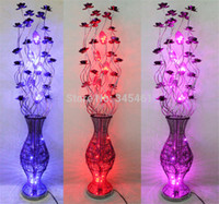 Wholesale pc Vase lamps Aluminum floor lamp hand woven art lighting wedding decorative lights high quality Metal Made Floor lights