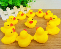 Cheap Wholesale-2015 new arrivel Rubber Duck Ducky Duckie Baby Shower Birthday Party Favors Toy Free shipping&Wholesale