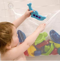 bath bag for toys - Mesh Storage Shower Bag Organizer for Baby Bath Toys with Suction Cups