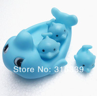 baby delivery gifts - baby bath toy Rubber dolphin PVC dolphin Bath Toy Gifts Hot sale Funny safe Fast delivery dolphin set