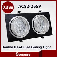 aluminium grille - W Double Heads Led Grille Light LM Black Silver Aluminium mm W Dual Heads Led Spotlight Ceiling