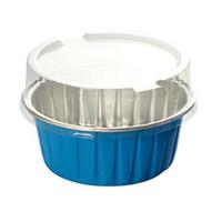 Wholesale Pieces A Colorful Disposable Aluminum Baking Cups with Lids for Desserts Pudding Cups Aluminum Foil Mousse Custard