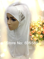 assorted headgear - mh063 cheap modal fabric arabic headgear with diamond applique in assorted colors