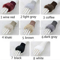 best winter mittens - Best Selling Women Faux Rabbit Fur Hand Wrist Winter Warmer Fingerless Long Mitten Gloves Acrylic Fibre Fashion Gloves Half Finger