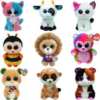 Wholesale Ty ty beanie boos big eyes plush toy doll child birthday new year gift set cm