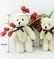 bears toy store - Store Special Offer Kawaii Joint Teddy Bear Plush Stuffed Toy Keychain Doll Size CM Small Wedding Bouquet TOY DOLL