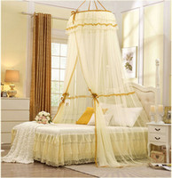 Cheap Wholesale-2015 Mosquito Nets Curtain for Bedding Set 5 Colors Princess Bed Canopy Bed Netting Tent Mosquiteiros De Teto Magic Mesh