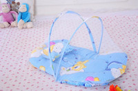 baby mattress sale - Big Size Hot Sale New Infants Portable Baby Bed Crib Folding Mosquito Net Infant Cushion Mattress