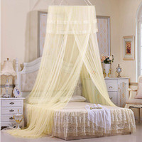 Cheap Wholesale-Princess Bed Canopy Mosquito Nets Fishing 4 Color Adult Children Netting Curtain for double bed Mosquiteiros De Teto Magic Mesh