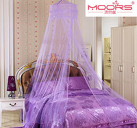 Cheap Wholesale-2015 New Elegant Round Lace Insect Bed Canopy Netting Curtain Dome Mosquito Net suitable for 1.2-1.8m bed including sticky hook