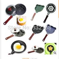 Wholesale Mini small non stick frying pan love omelette pan mold breakfast omelette mini egg pan