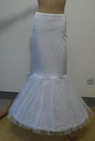 Vestido nupcial de trompeta sirena Slim 2-hoop crinolina falda falda enagua con cintura elástica