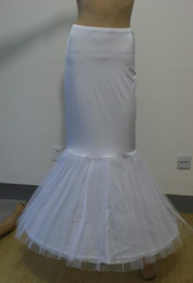 Wholesale Vestido nupcial de trompeta sirena Slim hoop crinolina falda falda enagua con cintura elástica