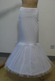 Falda de crinolina sirena en Línea-Vestido nupcial de trompeta sirena Slim 2-hoop crinolina falda falda enagua con cintura elástica