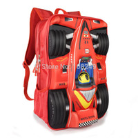 awesome travel - New Arrival D Cartoon Cars Backpacks Boy Kids Awesome Formula Car Model Bags Children Outdoor Sports Travel Shoulders Bag
