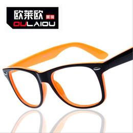 Wholesale-2015 new unisex glasses orange glasses frame glasses without lenses wholesale Retail OLO8141 glasses free shipping