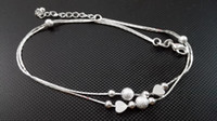 beach service - Fashion Simple Foot Accessories Sterling Silver Anklet For Women Beach Foot Chains Jewelry OEM ODM Service