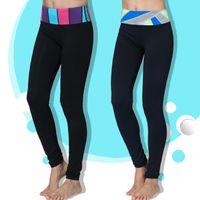 Wholesale 2015 Top Fashion Lulu Sports Pants Force Exercise Women Sports Yoga Tights Elastic Fitness Running Trousers Slim Aerobics Pants
