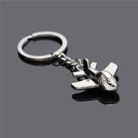airplane key ring - new hot selling high quality Creative Fashion trendy key chains key rings with Airplane Model Key chains for keys