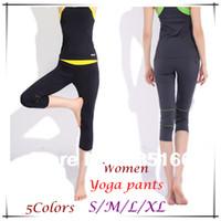 foldover yoga pants - New Design Women Yoga Pants S XL Colors Slim Foldover Colorful Capri For Fitness Dance Jogging Sport JM06779