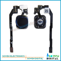 Wholesale Home flex cable with button assembly full sets for iphone S Function key row line Original new Black or White